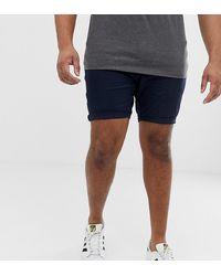 ASOS Asos Plus Skinny Chino Shorts - Blue