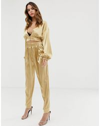 Lioness Tapered Trouser Co-ord - Metallic