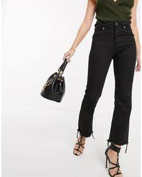 ASOS Egerton - Stugge Cropped Flare Jeans - Zwart