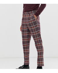 ASOS Tall Skinny Smart Trousers - Purple