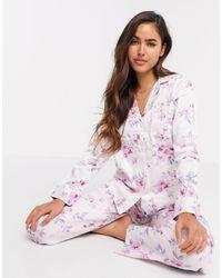 Lauren by Ralph Lauren Розовая Пижама С Цветочным Принтом -розовый