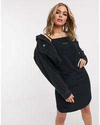 Calvin Klein Vestito sottoveste con monogramma nero