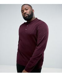 French Connection - Plus Knitted Long Sleeve Polo - Lyst