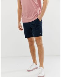 Original Penguin Slim Fit Stretch Chino Shorts In Navy - Blue