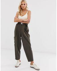 ASOS Pantaloni affusolati con cintura di sicurezza - Multicolore