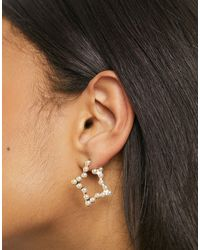 True Decadence Star Hoop Earrings - Multicolour