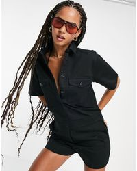 Volcom Whawhat Playsuit - Black