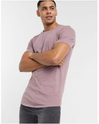Jack & Jones Essentials Longline T-shirt-purple