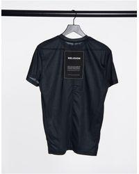 Religion Camiseta negra desgastada extragrande - Negro