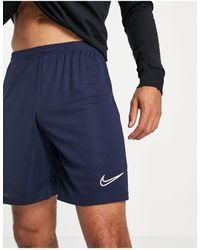 Nike Football Темно-синие Шорты Academy 21-темно-синий