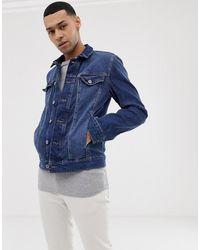 c176ca5fa Denim Jacket In Mid Blue Wash