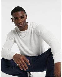 Threadbare Jersey con cuello redondo suave al tacto en blanco