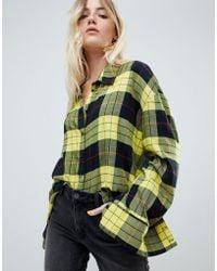 Cheap Monday - Flannel Check Shirt In Tartan - Lyst