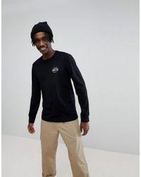 Brixton - Garth Long Sleeve T-shirt With Logo - Lyst
