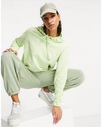 NA-KD Sudadera con capucha verde lima extragrande