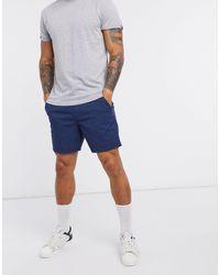 Hollister Pantaloncini prep blu con stampa geometrica