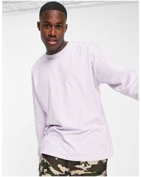 New Look Long Sleeve Oversized T-shirt - Purple
