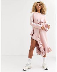 adidas Originals X J Koo Trefoil Ruffle Dress - Pink
