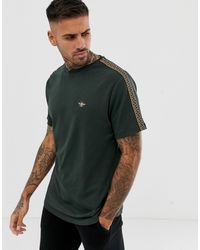 River Island T-shirt With Tape Detail In Green