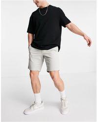 Calvin Klein Серые Окрашенные Шорты Чиносы С Ремнем -серый