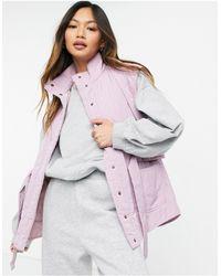 Y.A.S Сиреневый Стеганый Жилет С Поясом И Высоким Воротником -фиолетовый Цвет - Пурпурный
