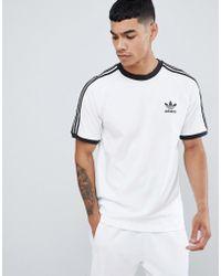 adidas Originals Adicolor California T-shirt In White Cw1203