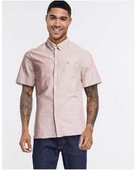 Lacoste - Camisa lisa - Lyst