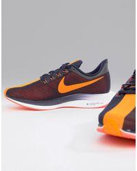 Nike Бордово-оранжевые Кроссовки Pegasus Turbo - Синий