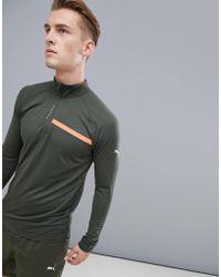 4b6a970c7b PUMA - Sweat-shirt de course fermeture clair 1/4 - Lyst