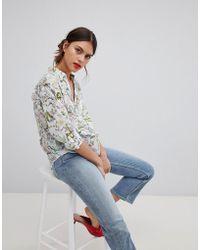 Esprit - Tropical Print Blouse - Lyst