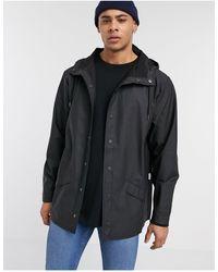 Rains Chaqueta ligera negra con capucha - Negro