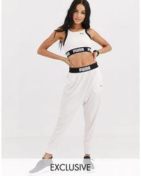 PUMA Exclusive To Asos Drapey Pants - White