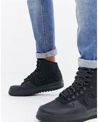 Nike Черные Кроссовки Lunar Force 1 Duckboot Bq7930-003-черный