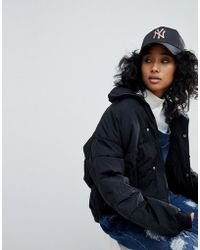 KTZ - 9forty Exclusive Black Cap With Rose Gold Ny - Lyst