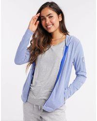 Lauren by Ralph Lauren Lounge Zip Through Hoodie - Blue