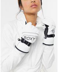 Roxy Snow Jetty - Gants - Blanc