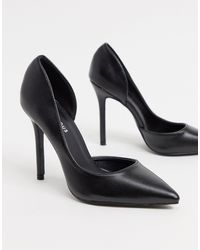 Glamorous D'orsay Court Shoes - Black