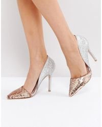 Miss Kg - Andrea Sequin Court Shoes - Lyst