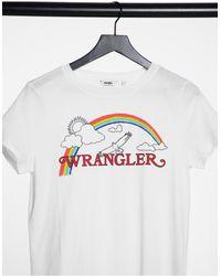 Wrangler Футболка Классического Кроя Настоящего Белого Цвета Rainbow-белый
