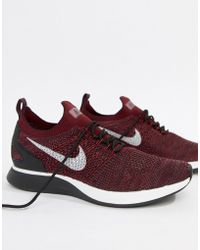 Nike - Air Zoom Mariah Flyknit Racer Trainers In Red 918264-600 - Lyst