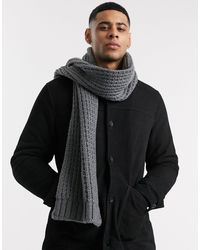 ASOS Knitted Scarf - Grey