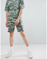 Only & Sons - Jersey Short With Digital Camo Print - Lyst