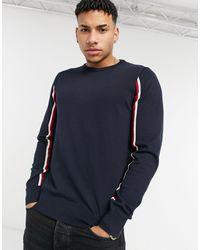 Tommy Hilfiger – Global – Intarsien-Pullover - Blau