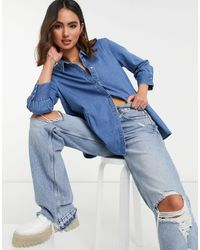 ONLY - Chemise en jean à smocks - Lyst