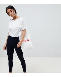 ASOS - Asos Design Petite Rivington With Athleisure Styling In Indigo Wash - Lyst