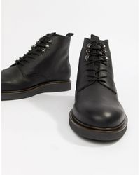 H by Hudson Battle Lace Up Boots - Black