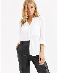 Pull&Bear Join Life 3/4 Sleeve Shirt - White