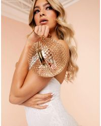 ASOS Luxe Cage Sphere Clutch Bag
