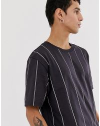 Weekday - Frank Vertical Stripe T-shirt In Navy - Lyst