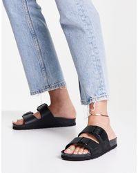 Vero Moda Sandales en cuir - Noir